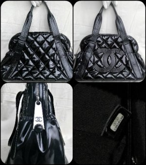 Chanel Shopper black-silver-colored leather