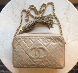 Chanel Shoulder Bag camel leather