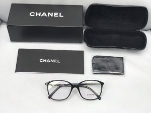 Chanel Glasses black-silver-colored synthetic material