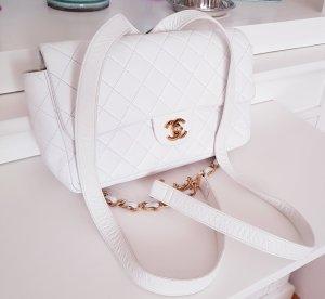 Chanel Sac à main blanc-doré cuir