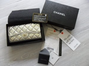 Chanel Wallet silver-colored leather