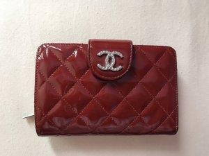 Original Chanel Geldbörse rot in Lackleder