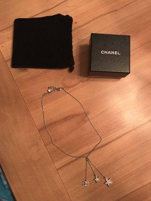 Original Chanel Halskette mit CC Anhänger + 2 Sternen