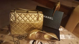 Chanel Handtas donkergeel Leer