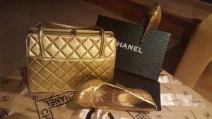 Chanel Handbag dark yellow leather