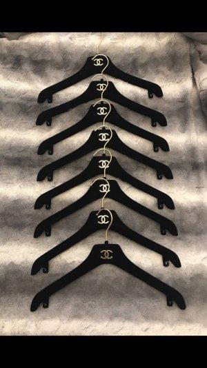 Original Chanel Kleiderbügel Schwarz Gold samt