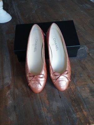 original Chanel kupfermetallic Ballerinas