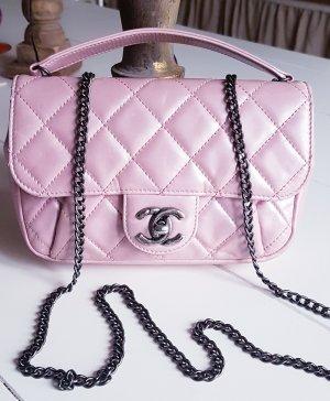 Chanel Bolso gris antracita-rosa
