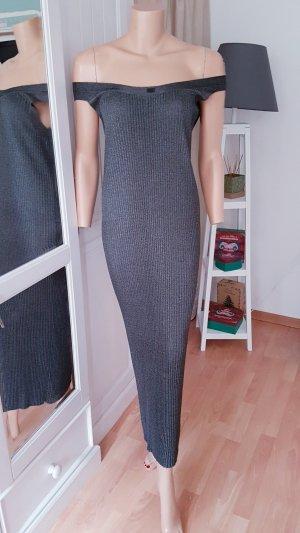 original Chanel Lurex Plissee Maxi Kleid