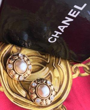 Original Chanel Paris Designer Ohrclipse signiert gestempelt Box