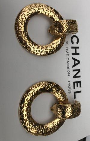 Original Chanel Paris Designer Ohrclipse Signiert gestempelt Earrings