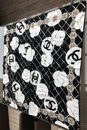 Original CHANEL PARIS Designer Seidentuch Tuch silk scarf foulard Carre Neu