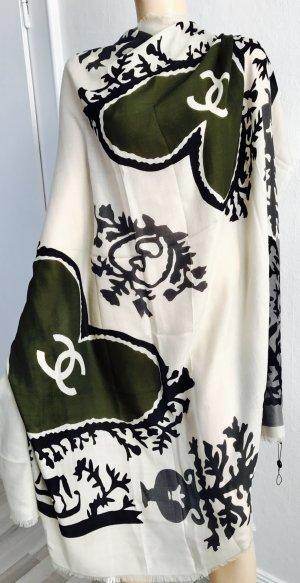 Original Chanel Paris Designer XXL Tuch Schal Kaschmir Neu