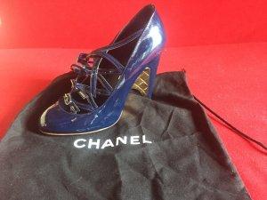 Original Chanel Pumps blau/gold Gr. 36,5 Weihnachtsgeschenk