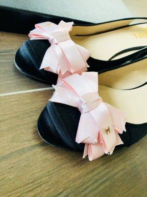 Original Chanel Pumps Schleife Bow Ballerina Sommer Luxus Blogger 40