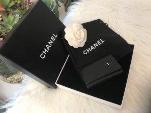Chanel Porte-clés noir-argenté cuir