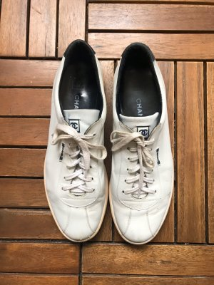 Chanel Lace-Up Sneaker white leather