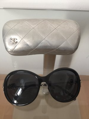 Chanel Gafas de sol negro-color plata