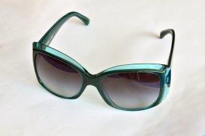 Original Chanel Sonnenbrille in einem grün-petrol-transparenten Farbton