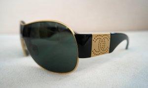 Original Chanel Sonnenbrille mit gold und Logo + Etui