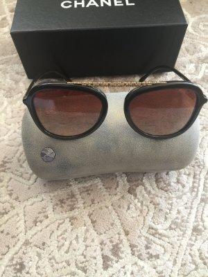 Chanel Lunettes aviateur brun foncé-doré