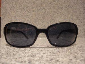 Original Chanel Sonnenbrille schwarz, mit Chanel Schriftzug in Swarovski Kristallen, auf beiden Seiten