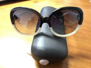 Original Chanel Sonnenbrille Vintage Look Blogger Creme Schwarz Perlmutt