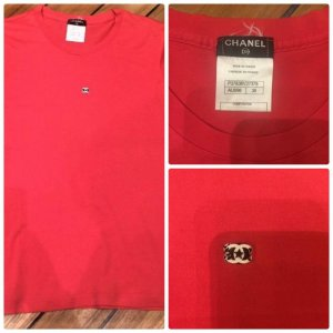 Original Chanel T-Shirt Größe 36DE38FR Baumwolle Top!