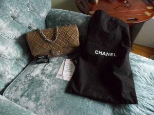 Original Chanel Tasche classic Jumbo caramel,silberne Hardware