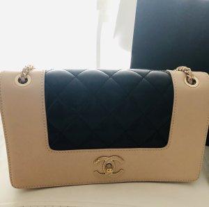 Chanel Borsetta beige-nero Pelle