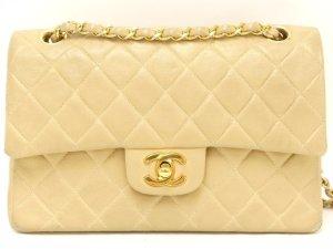 Original Chanel Timeless flap bag double flap beige