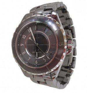 Original CHANEL Uhr J12 Chromatic Titankeramik Silber Grau 41mm Watch NEU OVP