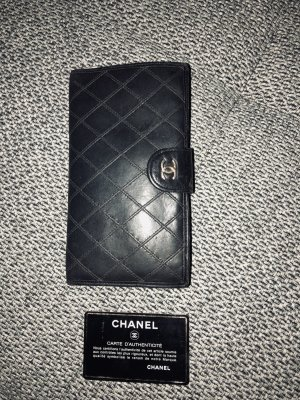 Original Chanel Vintage Lambskin Diamond Geldbörse Wallet Portmonaie