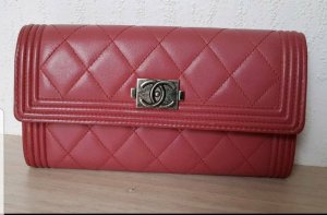 Original Chanel Wallet Geldbörse Leder in alt rosa