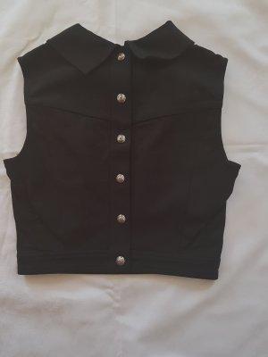 Original  Chanel Weste Cotton schwarz Gr.36/38