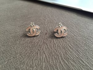 Chanel Ear stud pink-silver-colored