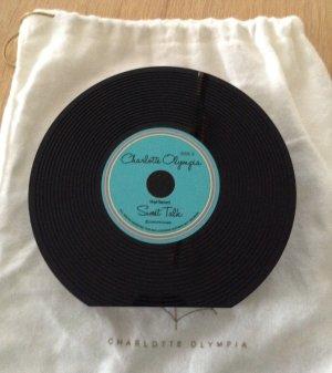 Original Charlotte Olympia Clutch/Tasche Vinyl Schallplatte