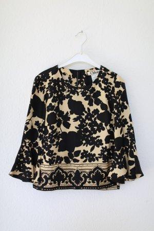 Original Chloé Bluse 100% Seide Blumen Vintage Look Gr. 36 / 38