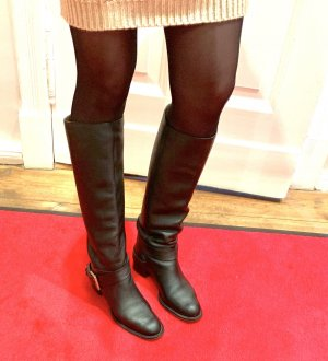 Chloé Riding Boots black-gold-colored