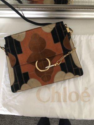 Original Chloé Faye Medium Tasche in schwarz / Chloe
