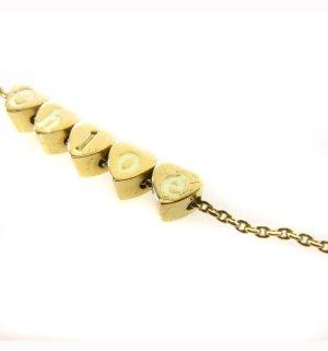 Original CHLOE Ohrringe Halskette Kette golden Edelstahl