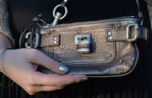 Original CHLOE Paddington Baby mini clutch braun metallic TOP Zustand!