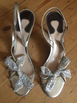Original Chloe Sandaletten Pumps Schuhe in Gr. 40 Silber