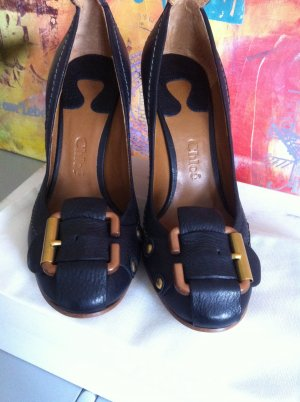 Original Chloé Schuhe mit Absatz und Schnalle