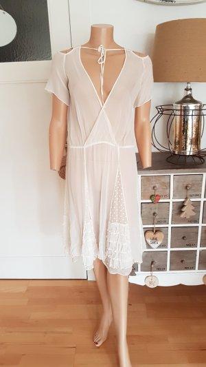 Chloé Vestido blanco puro-crema Seda