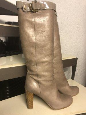 Original Chloé Stiefel, komplett Leder, Größe 41, Farbe Taupe