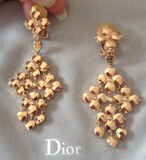 Original Christian Dior Blüten Ohrclips Ohrringe