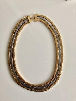 Original Christian Dior Kette 18 kt vg Gold 1971 Luxus Vintage Goldkette Bicolor Necklace collier massiv