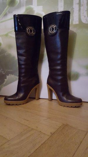 Christian Dior Botas estilo militar marrón oscuro