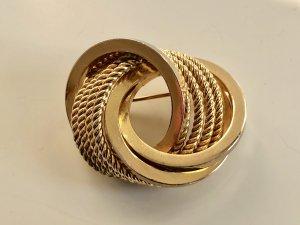 Original Christian Dior Trinity Brosche 18K Gold Luxus Vintage 60s 60er Jahre